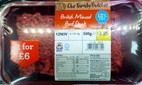 British Minced Beef Steak - Produit