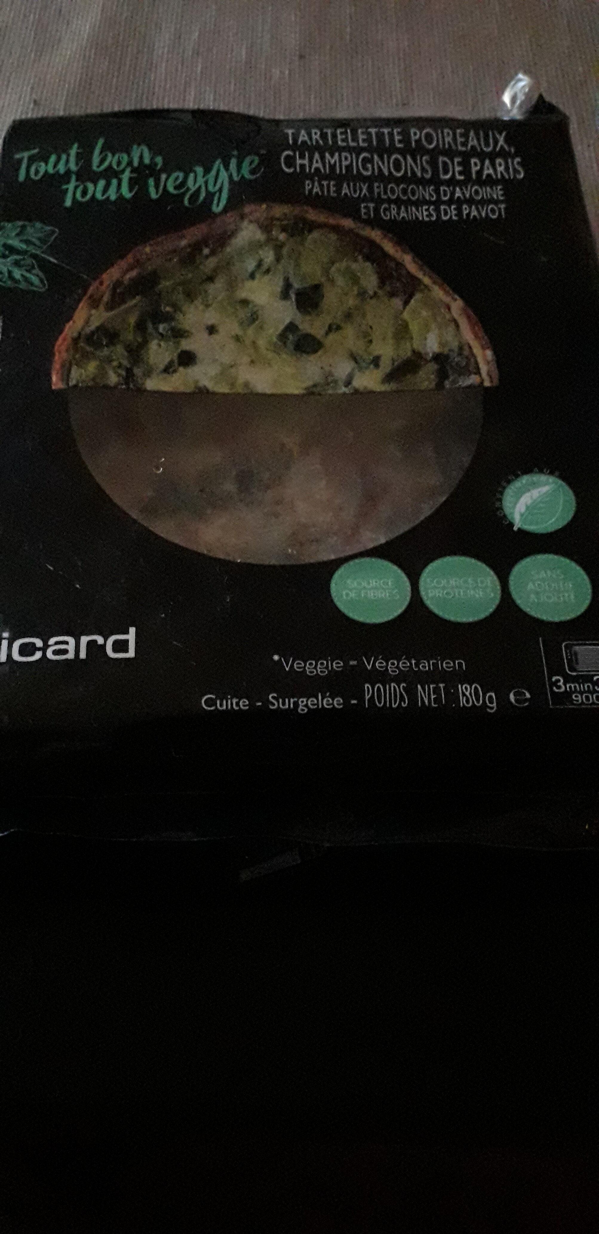 tartelette poireaux champignon de paris - Produit - fr