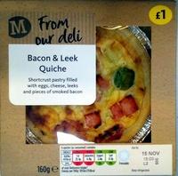 Bacon & Leek Quiche - Product