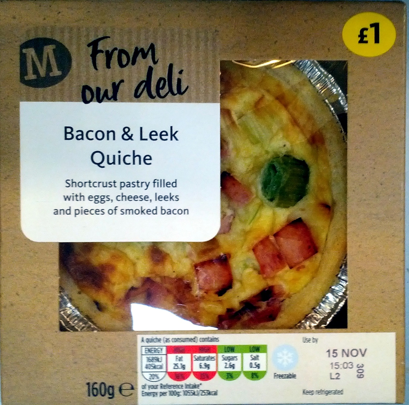 Bacon & Leek Quiche - Morrisons