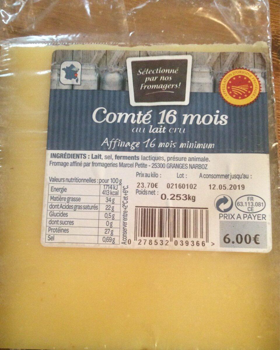 Comté 16 mois au lait cru - Product