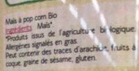 Maïs à pop corn Bio - Ingredients - fr