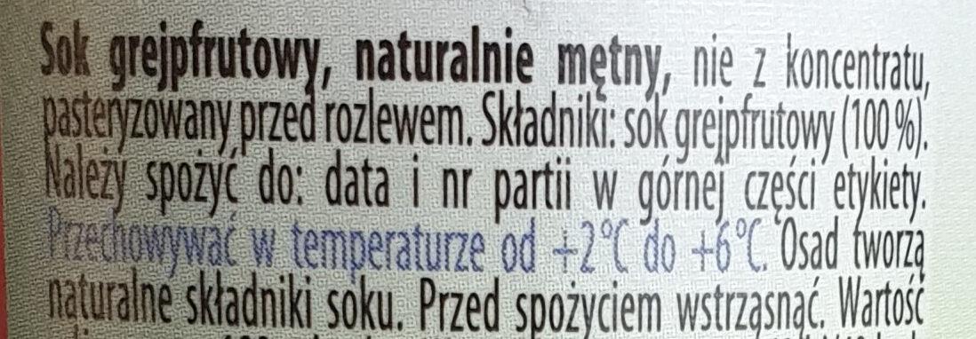 Sok grejpfrutowy - Składniki - pl