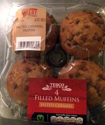 4 filled muffins - salted caramel - Product