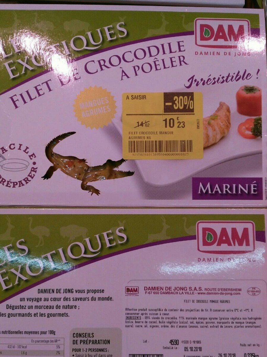 Filet de Crocodile Mangues Agrumes - Produit - fr