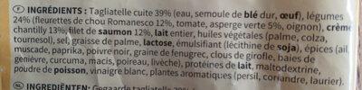 Tagliatelles au saumon - Ingrédients - fr