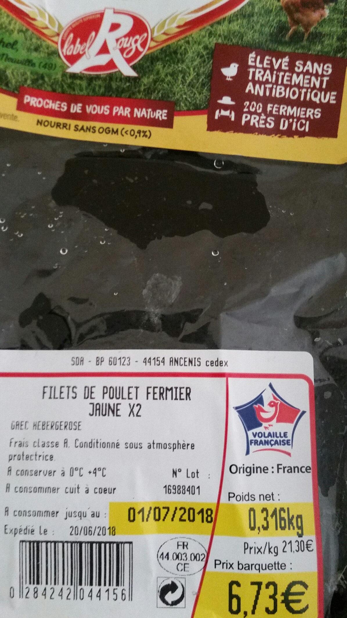 poulet fermier d ancenis label rouge - Product - fr