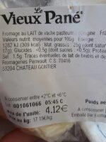 Vieux pané - Informations nutritionnelles - fr