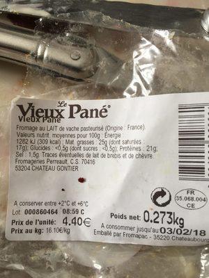 Le Vieux Pané - Ingrédients - fr