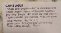 Fromage - Informations nutritionnelles - fr