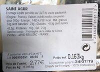 Saint Agur l'intense - Produit