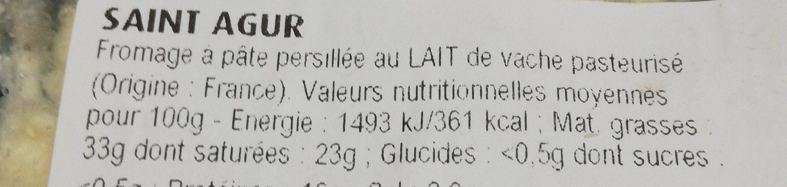 Fromage bleu - Ingrédients - fr