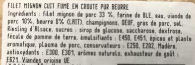 Filet mignon en croûte - Ingrédients