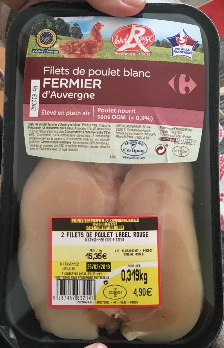 Fillet de poulet blanc fermier d'auvergne - Product
