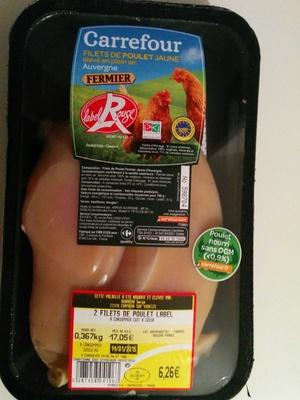 Filets de poulet fermier jaune - Produit