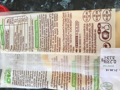 emmental français au lait cru - Ingredienti - fr