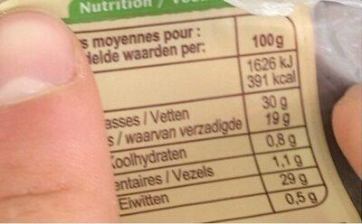 Emmental français au lait cru - Valori nutrizionali - fr