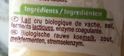 Emmental francais au lait cru - Ingrédients