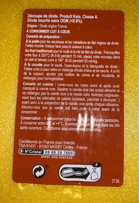 Escalopes de dinde - Informations nutritionnelles - fr