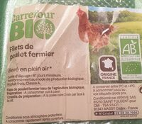 Filet de poulet fermier bio - Product - fr