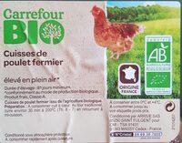 Cuisses de poulet fermier - Ingrédients - fr