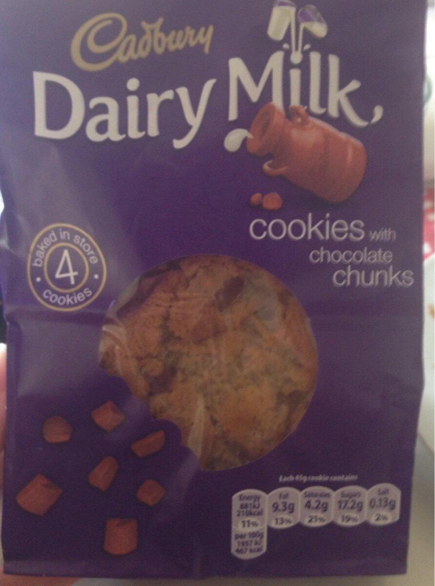 Cookies with chocolate chunks - Product