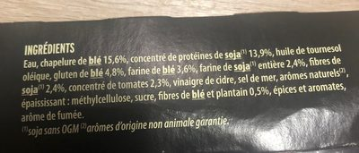 Grill vegetal nuggets soja et ble - Ingrédients - fr
