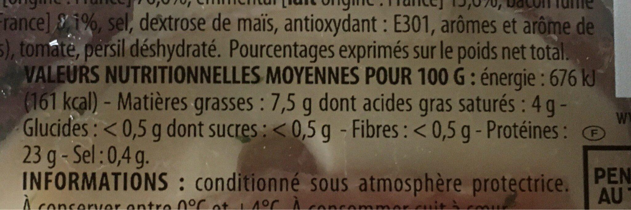 Rôti filet de porc façon Orloff - Valori nutrizionali - fr