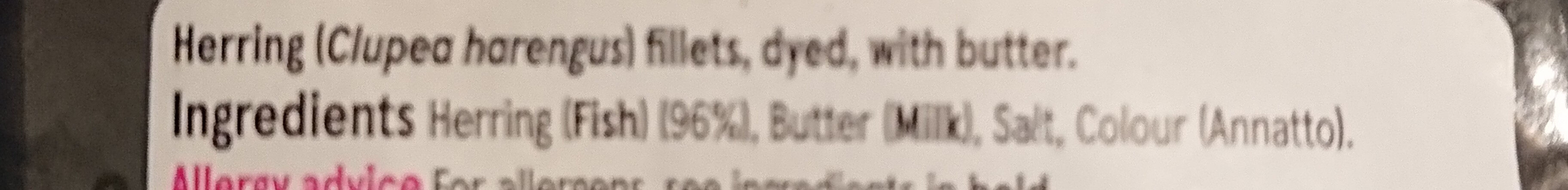 Kipper Fillets with Butter - Ingredients