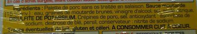 Palette d'Alsace à la Diable - Ingredients