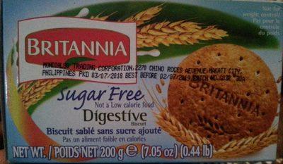Britannia Sugar Free Digestive Biscuit - Product - en
