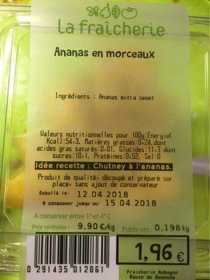 Ananas en morceaux - Produit - fr