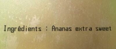 Ananas en morceaux - Ingrédients - fr