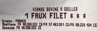 Faux-filet boeuf - Ingrédients