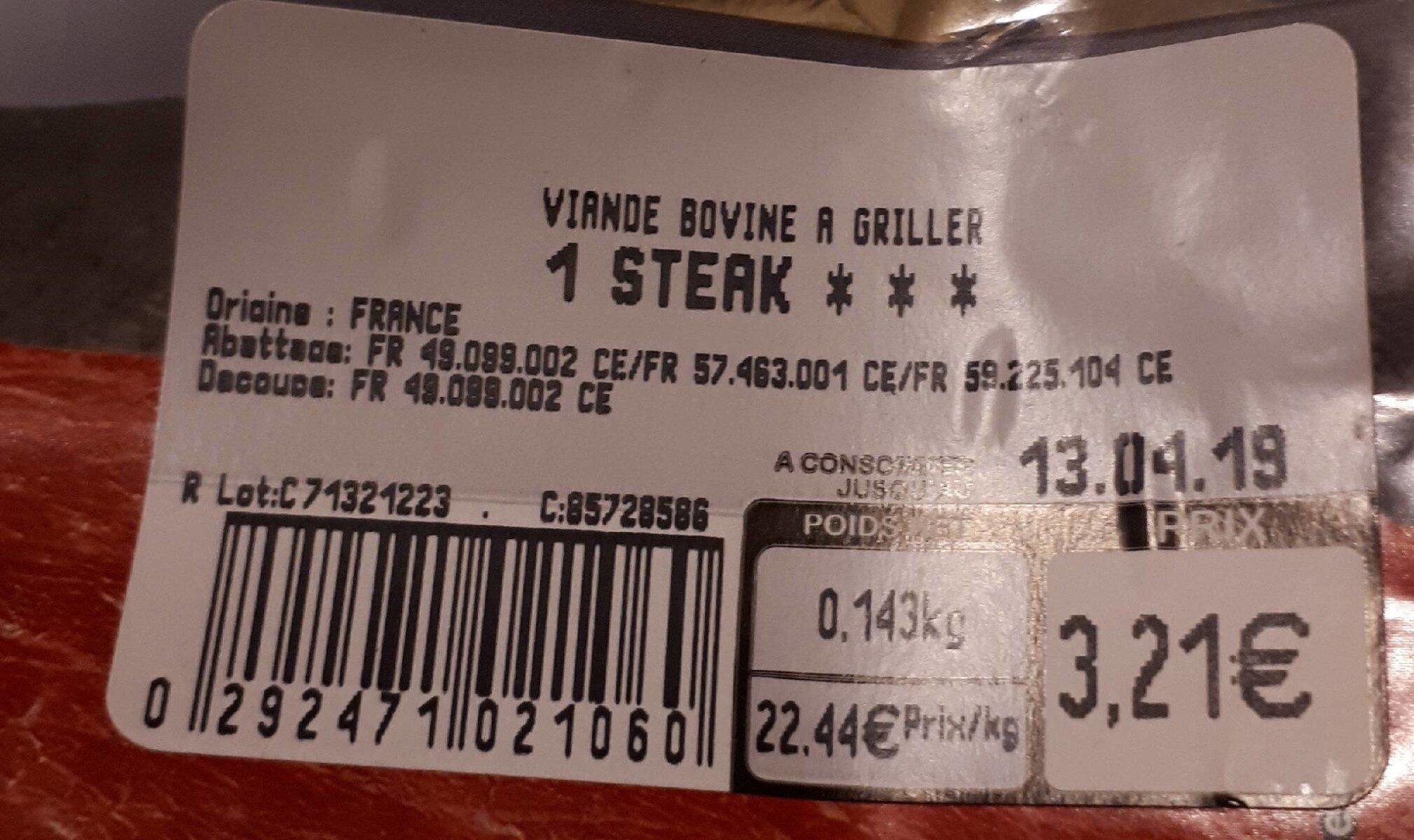 1 bifteck tendre & savoureux - Ingredients