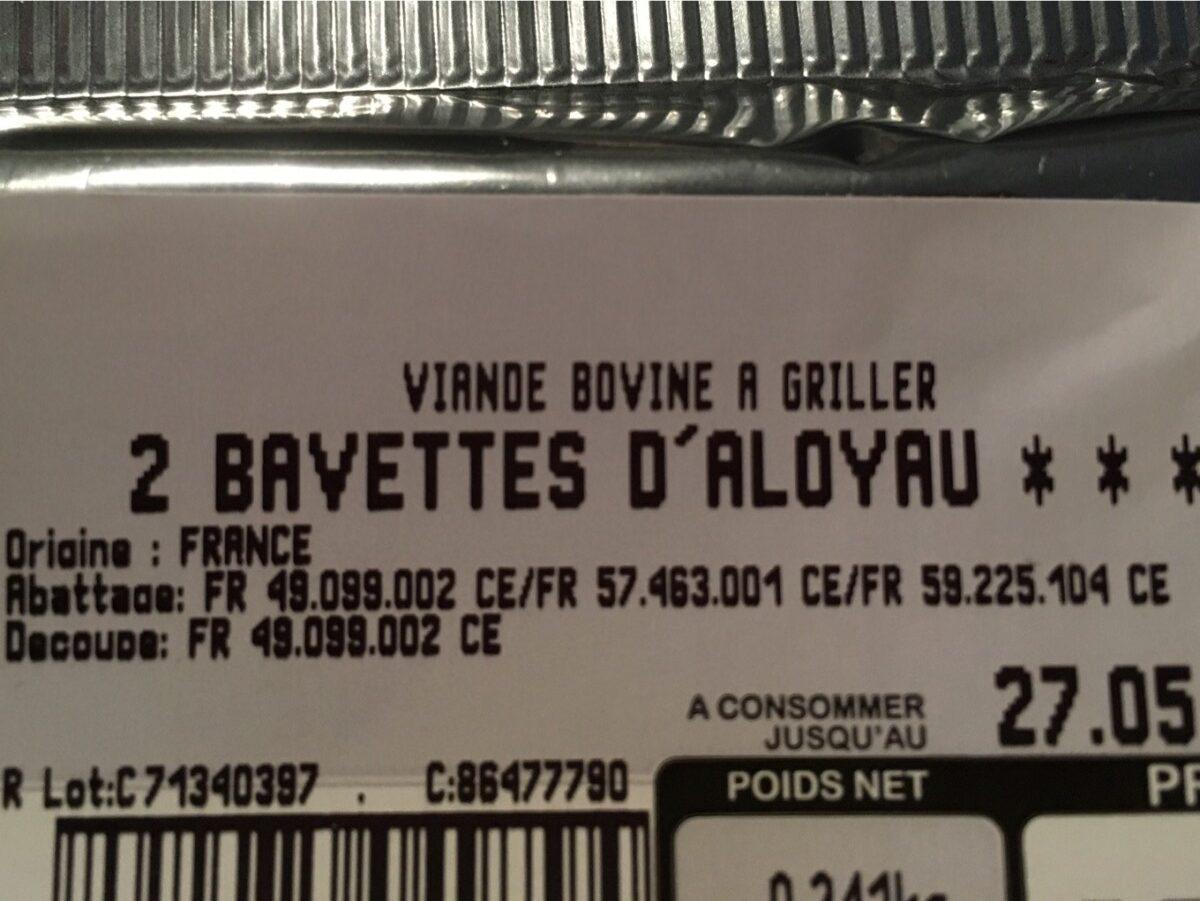 2 bavettes d'aloyau - Ingredients