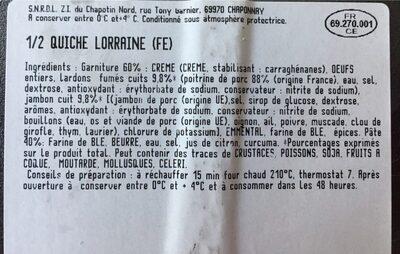 Quiche lorraine - Ingrediënten - fr
