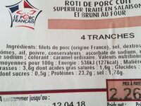 Rôti de porc cuit - Ingredients - fr