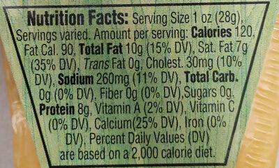 1,000 Day Gouda Cheese - Nutrition facts - en
