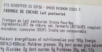 Gouda de chèvre - Ingrédients - fr
