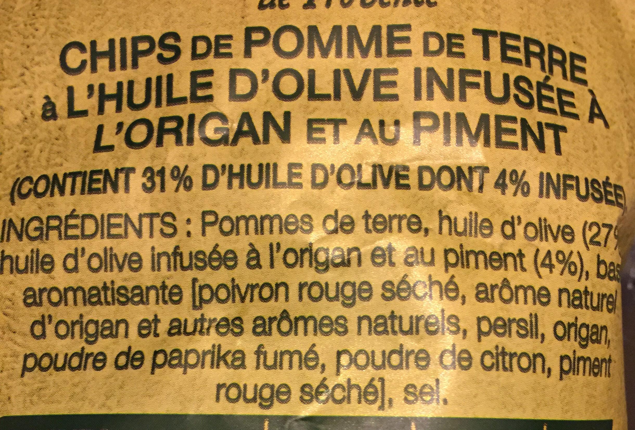 Lays Méditerranéenne - Ingrediënten