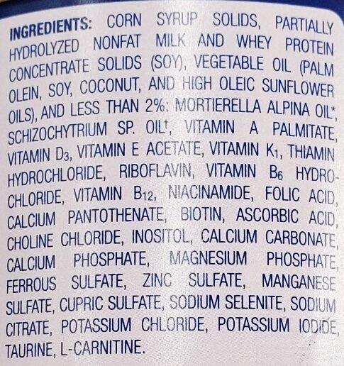 enfamil gentlease - Ingredients - en