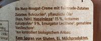 Nuss-Nougat Creme - Ingrédients