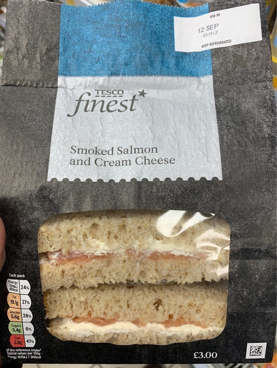 Smoked salmon and cream cheese - Product - en