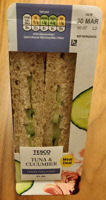 Tuna & Cucumber Sandwich - Product