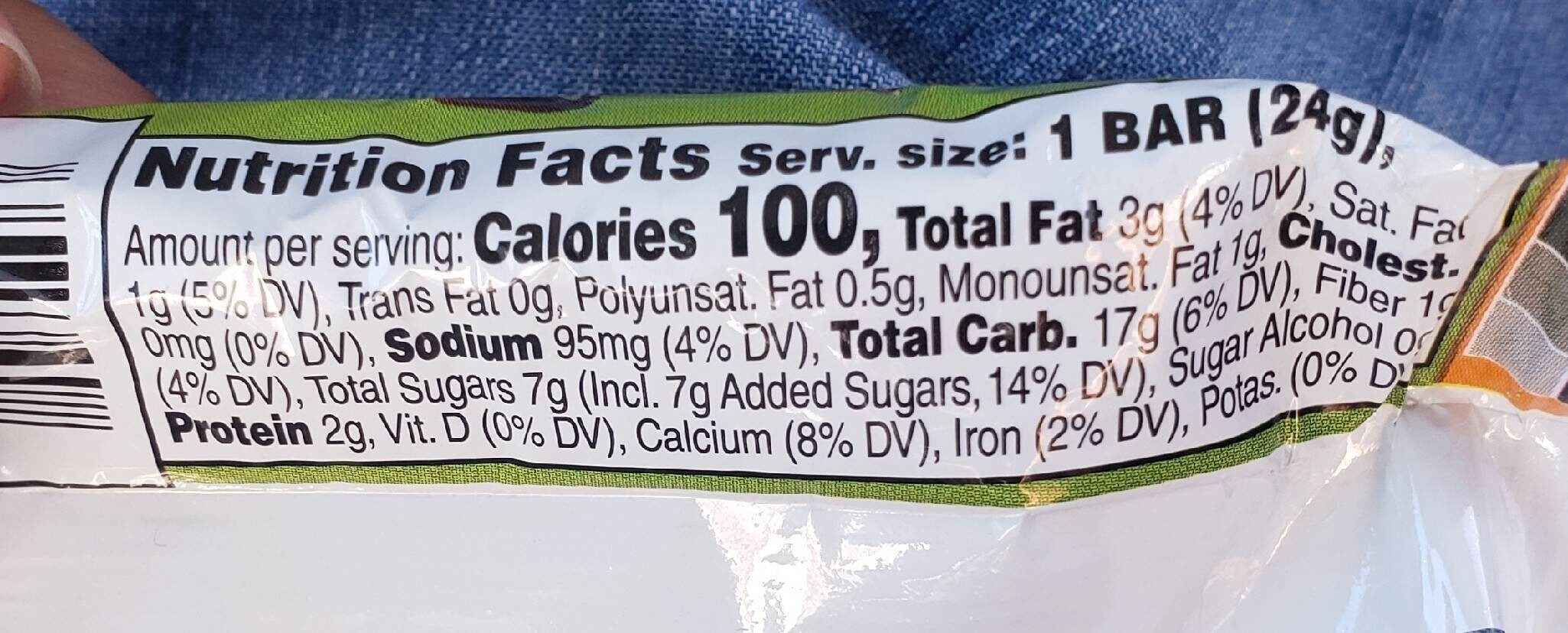 Chewy Peanut Butter  chocolate chip - Nutrition facts - en