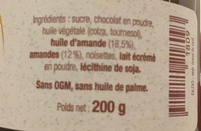 Amandise - Ingrediënten