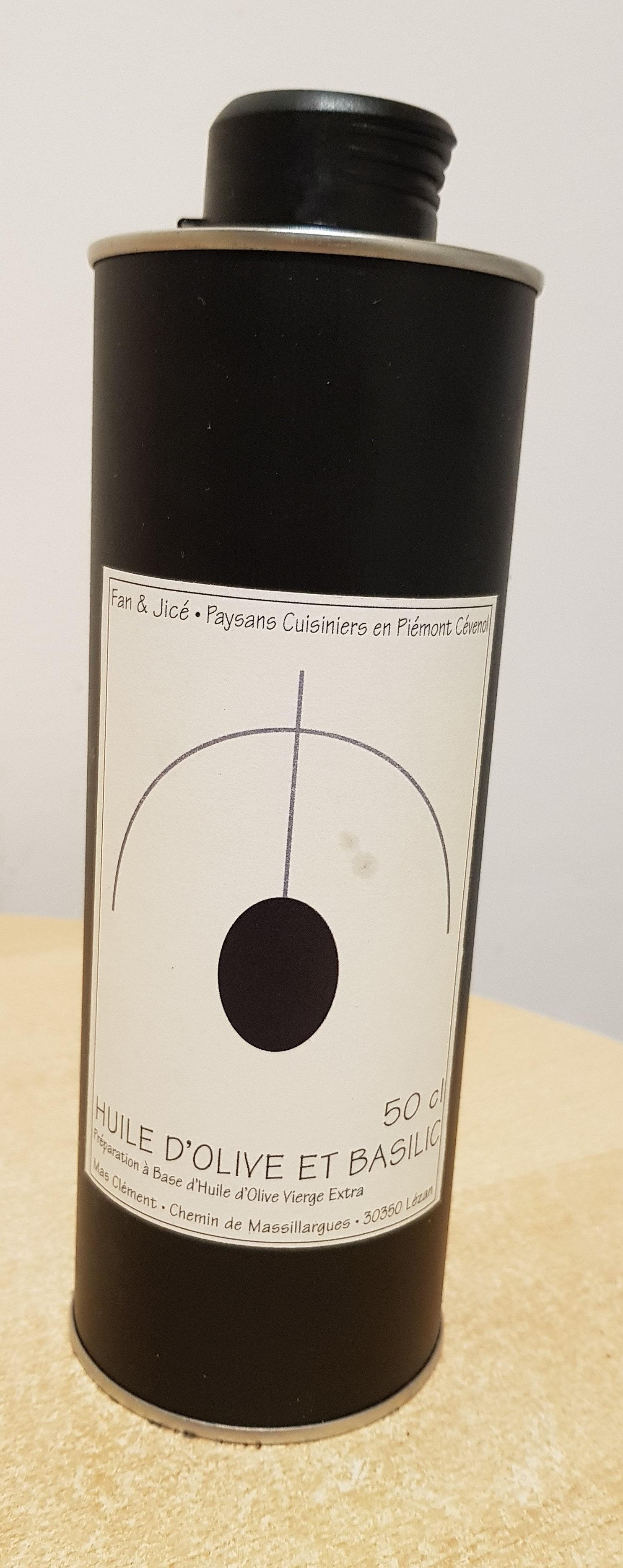 Huile d'olive et basilic - Produit