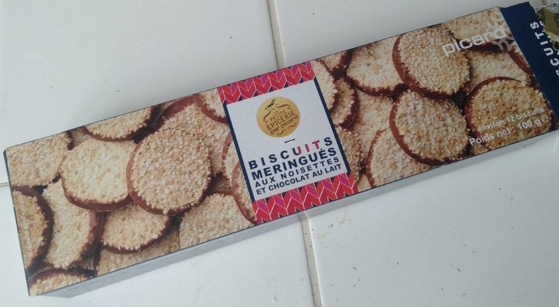 Biscuits meringués aux noisettes et chocolat au lait - Product - fr
