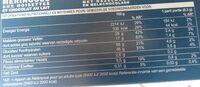 Biscuits meringués aux noisettes et chocolat au lait - Voedingswaarden - fr